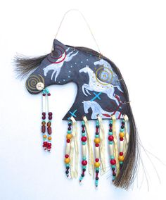 Native American Projects, Native American Decor, Native American Regalia, Clay Projects For Kids, Painted Feathers, American Paint Horse, Clay Wall Art, Decorative Gourds, Pottery Animals