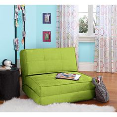 Purchased this for Ella's room. She LOVES it. Great seating option for her to watch a movie. Also converts to a bed which is perfect for when friends sleep over.