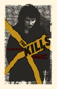 The Kills. Poster by joanna Wecht