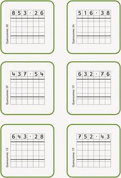 Lernstübchen: schriftlich multiplizieren (1) Math Class, Math For Kids, Math Lessons, Teaching Kids, Periodic Table, Education, Learning, Baby, Lyrics