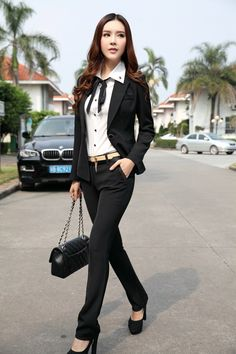 2014 Women Business Suits Formal Office Suits Work Suits With Pants Office Uniform Style trouser suit For women