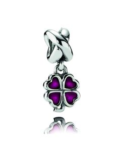 Pandora Silver Purple Four Leaf Clover Enamel Charm    Available at: www.always-forever.com