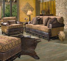 Rustic Fabric Sofa