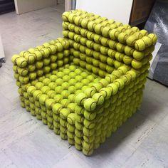 Tennisball Sessel /// Designer Unikat   eBay