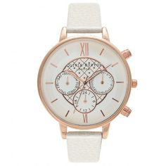 Olivia Burton - Big Dial Chrono Detail Mink and Rose Gold with Dot design detail