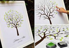 Finger Tree – Uma opção para que todos os convidados deixem sua marca durante a festa e o resultado acaba sendo uma super lembrança do grande dia para os noivos e seu novo lar.