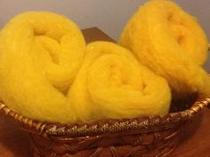 Hand dyed yellow needle felting batts by Saira Jan from Fibrecraft 2014 Snack Recipes, Snacks, Needle Felting, Chips, Canada, Tools, Yellow, Snack Mix Recipes, Appetizer Recipes