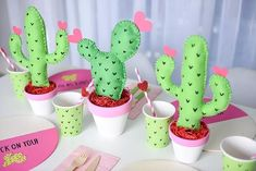 Need a unique idea for Valentine's Day? How about a Cactus Party for kids! Check out the Cactus Balloon DIY Cactus Centerpiece, Cactus Decor, Party Centerpieces, Valentines Day Decorations, Valentines Day Party, Cactus Balloon, Fiesta Theme Party, Mexican Party, 1st Birthday Girls