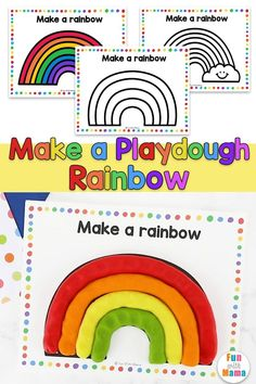 If your child wants to make a rainbow with play dough, let them! In fact, sit down and make a playdough rainbow with them as well!