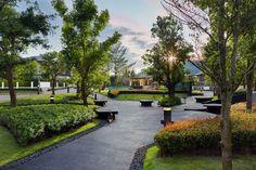 Architecture Portfolio Layout, Landscape Architecture Design, Concept Architecture, Garden Design Ideas On A Budget, Landscape Diagram, Seaside Garden, Commercial Landscaping, Public Space Design, Parking Design