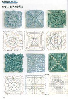 Transcendent Crochet a Solid Granny Square Ideas. Inconceivable Crochet a Solid Granny Square Ideas. Crochet Motifs, Granny Square Crochet Pattern, Crochet Blocks, Crochet Diagram, Crochet Chart, Crochet Squares, Crochet Patterns, Granny Squares, Crochet Stitches