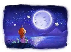 """Moon"" Illustration by Irina Smirnova Illustrator from St. Petersburg, Russia"