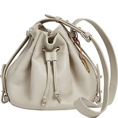 Skagen Mini Ibsen Drawstring Bucket Bag Oatmeal >>> More info could be found at the image url.