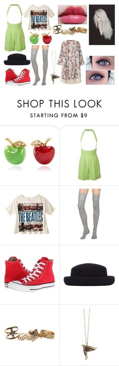"""""""Chrystal Matthews (Girl Meets Bulldozer)"""" by nbh1997 ❤ liked on Polyvore featuring Alison Lou, Jean-Paul Gaultier, Kate Spade, Converse, Topshop, Wet Seal and Gathering Eye"""