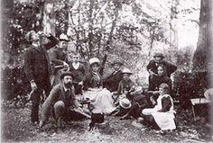 Torino, 1892: colazione sull'erba nel rondò del parco di Villa San Giacomo   #TuscanyAgriturismoGiratola