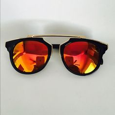 Flawless sunnies Brand new!! No trades frame:black/lens:yellow pink  100%uv protection comes with dust bag not as listed Nasty Gal Accessories Sunglasses