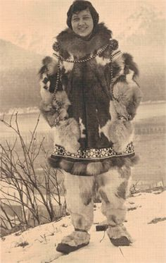 3-Great Aunt Linda Drabe Lukens in Alaska mid 1920s