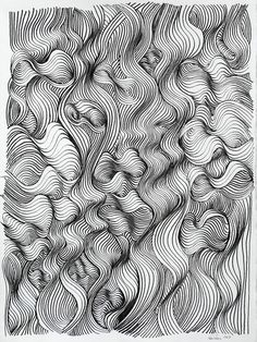 "Saatchi Online Artist: Ken Resen; Pen and Ink, 2011, Drawing ""Turbulence"""