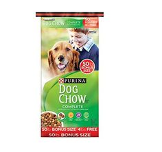 Purina Dog Chow Complete Dog Food Bonus Size, 50 lbs - Your dog is a special part of your family and that's why you should be feeding him Purina Complete Dog Food Bonus Size, 50 lbs. Do so and you'll be providing 100 percent complete and balanced nutrition to support a healthy, active life. Because when your dog is at his best, it shows - in his pers...