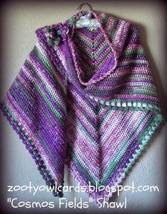 Zooty Owl's Crafty Blog: Cosmos Fields Shawl: free #crochet pattern