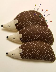 Hedgehog pin cushions
