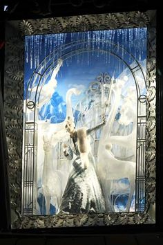"""NYC's Best Holiday Windows #refinery29  http://www.refinery29.com/2013/12/58131/best-holiday-windows-nyc#slide7  Winter and frost go hand in hand, and Bergdorf Goodman's """"Holidays on Ice"""" theme channels the crystalized art for its display."""