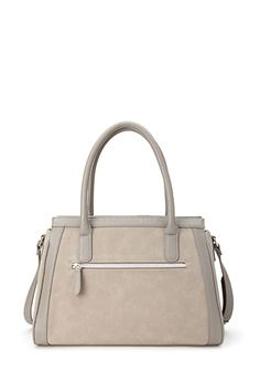 Faux Leather & Suede Satchel | FOREVER21 - 1000122699