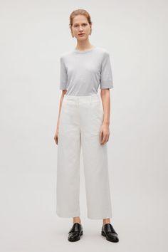 COS   Silk-cotton round-neck top