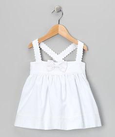 White Bow Dress - Infant & Toddler