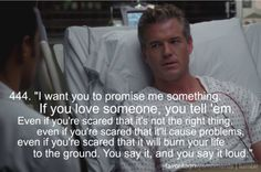 Words of wisdom from Mark Sloan