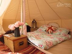 Beautiful #camping setup. Who'd not want to stay in one of these?! #tent