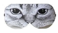Cat Sleep Eye Mask Masks Sleeping mask Blindfold Travel Eye Eyes cover covers patch patches Cloth sleeping eyes Slumber Eyewear Accessory