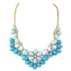 Blue Amelia Necklace ($29) ❤ liked on Polyvore