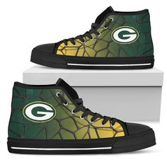 Colors Air Cushion Green Bay Packers Gradient High Top Shoes – Best Funny Store