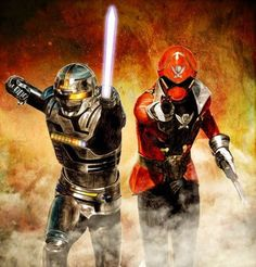 Gokaiger x Gavan. (KiRaidesu: a movie that almost made me tears seeing another gentle side from Marvey-chan).