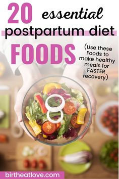 Make healthy post partum meals that can help you have a faster recovery. Best foods to eat after having a baby for a fast recovery for Mom. What you eat after delivery can help your heal your body and give you the energy you need to care for your newborn and family. Discover what you really should be eating postpartum to take care of yourself! #baby #postpregnancy #postpartum #newmom What Is Postpartum, Postpartum Diet, Postpartum Recovery, Healthy Milk, Healthy Eating, New Mom Meals, Vegetarian Protein Sources, How To Cure Depression, Post Partum
