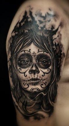 Santa muerte cleanfun tattoo | Cell phone pics | Pinterest | Santa ...