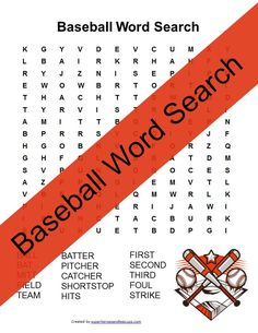 Learn vocabulary related to the fun sport of baseball with this free printable baseball word search. Click through to get your copy. Sports Activities For Kids, Educational Activities For Kids, Writing Activities, Kids Learning, Pe Activities, Preschool Printables, Free Printables, Free Printable Word Searches, Riding Quotes