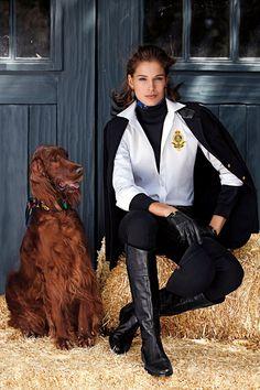 Massimo Dutti F W 13 Equestrian Collection Carolyn Murphy Model Equestrian Chic
