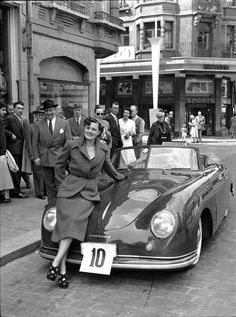 For the Love of All Things German and Air Cooled: Photo Porsche Sports Car, Porsche Models, Porsche Cars, Porsche Classic, Classic Cars, Porsche 356 Speedster, Porsche 356a, Volkswagen, Cowgirl Photo