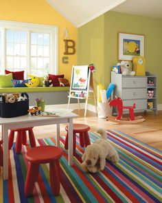 Sherwinwilliams On Instagram If Childlike Spirit Had An Official Color It Just Might Be June S Of The Month Limón Fresco Sw 9030 Playroom