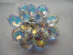 Items similar to Aurora Flower Swarovski Crystal Wedding Brooch on Etsy Crystal Wedding, Local Artists, Aurora, Unique Jewelry, Beaded Jewelry, Swarovski Crystals, My Design, Brooch, Trending Outfits
