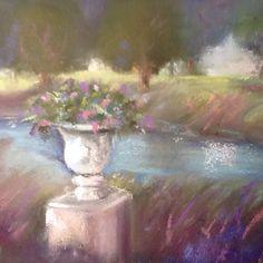 Park Plein Air 5x7 pastel painting $100 unframed by SL Graham