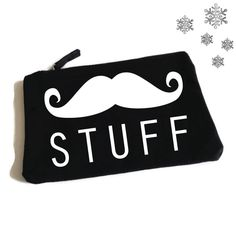 Moustache Stuff. Funny Toiletry Bag. Man Bag. Gifts for Guys. Accessory Bag. Moustache Grooming Kit Bag. Beard. Dad Gift. Fathers Day by SoPinkUK on Etsy