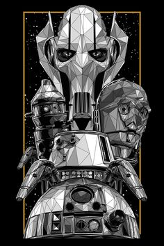 "Star Wars | An Art Odyssey - Official Exhibition ""Droids and Robots"" by Simon Delart"