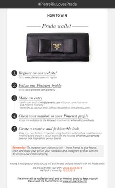 PINTEREST CONTEST - win Prada wallet! <3