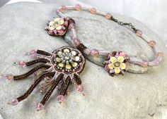 Hey, I found this really awesome Etsy listing at https://www.etsy.com/au/listing/73502392/pastel-collar-necklace-pink-embroidered