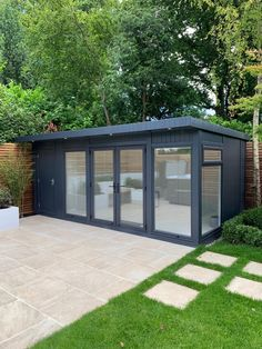 Combination Garden Room = Dual purpose: Storage + Changing Room with Toilet + Sink. Size: x Low maintenance - no timber on the exterior - 10 year guarantee. Lined & insulated, with heaters, toilet & basin. Visit our website for more details. Timber Buildings, Garden Buildings, Insulated Garden Room, Contemporary Garden Rooms, Garden Cabins, Garden Sheds, Garden Workshops, Hot Tub Garden, Shed Colours