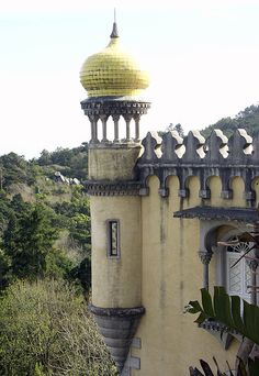 Detail, castle, Sintra, Portugal.  PICT7752 levels crop by StevenC_in_NYC, via Flickr