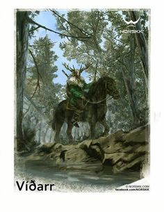Vidarr, son of Odin.  Will avenge his father's death in slaying Fenrir at Ragnarok.